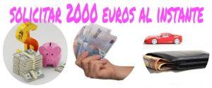 solicitar 2000 euros al intante